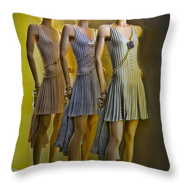 Three Of A Kind Throw Pillow by Chuck Staley