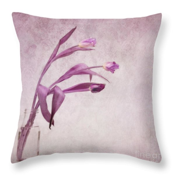 three of us Throw Pillow by Priska Wettstein