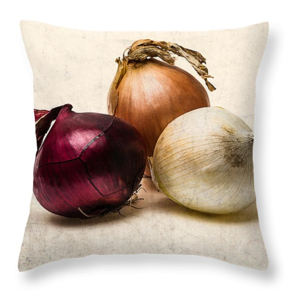 Three Onions - 1 Throw Pillow by Alexander Senin