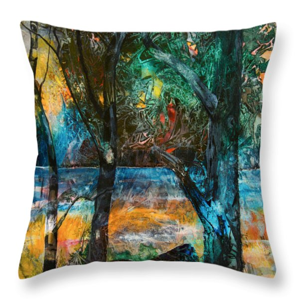 Three Sisters Throw Pillow by Patricia Allingham Carlson