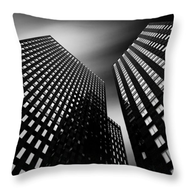 Three Towers Throw Pillow by Dave Bowman