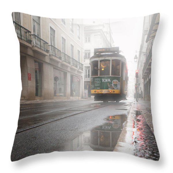 Through The Fog Throw Pillow by Jorge Maia