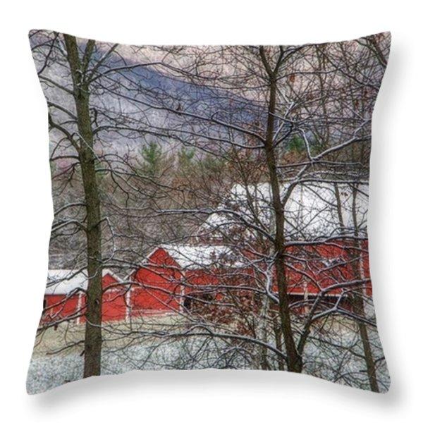 Through The Trees Throw Pillow by Stephanie Calhoun