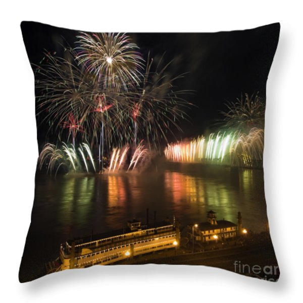 Thunder Over Louisville - D008432 Throw Pillow by Daniel Dempster