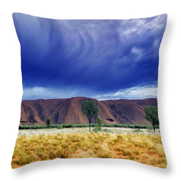 Thunder Rock Throw Pillow by Holly Kempe