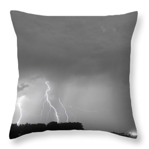 Thunder Rolls And The Lightnin Strikes Bwsc Throw Pillow by James BO  Insogna