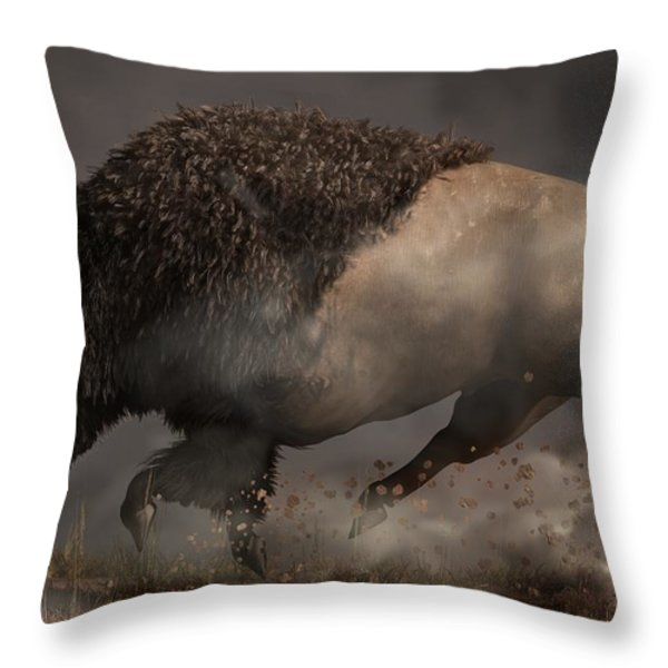 Thunderbeast Throw Pillow by Daniel Eskridge