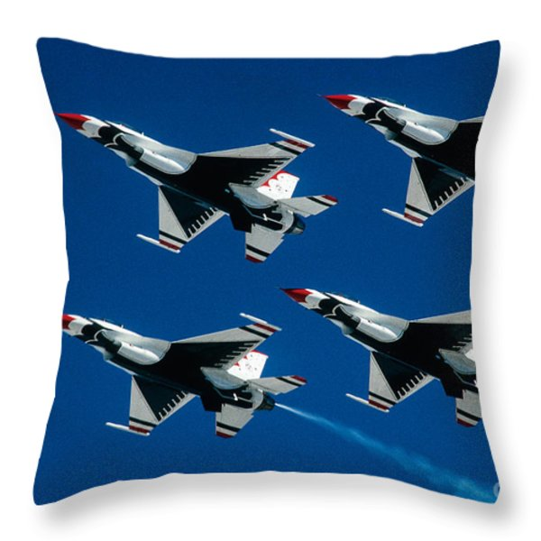 Thunderbirds Throw Pillow by Larry Miller