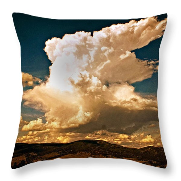 Thunderhead Over The Blacktail Plateau Throw Pillow by Marty Koch