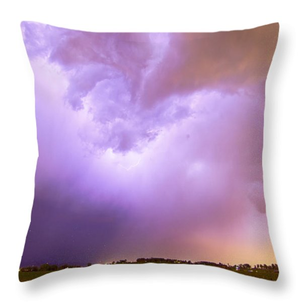 Thunderstorm Tidal Wave Throw Pillow by James BO  Insogna