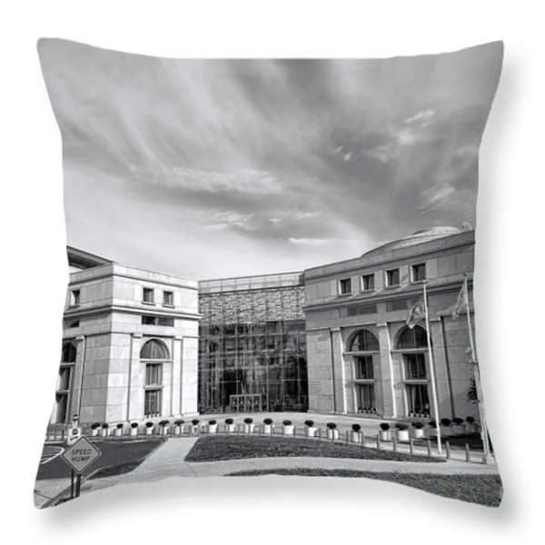 Thurgood Marshall Federal Judiciary Building Throw Pillow by Olivier Le Queinec