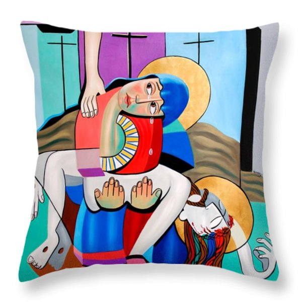 Thy Will Be Done  Throw Pillow by Anthony Falbo