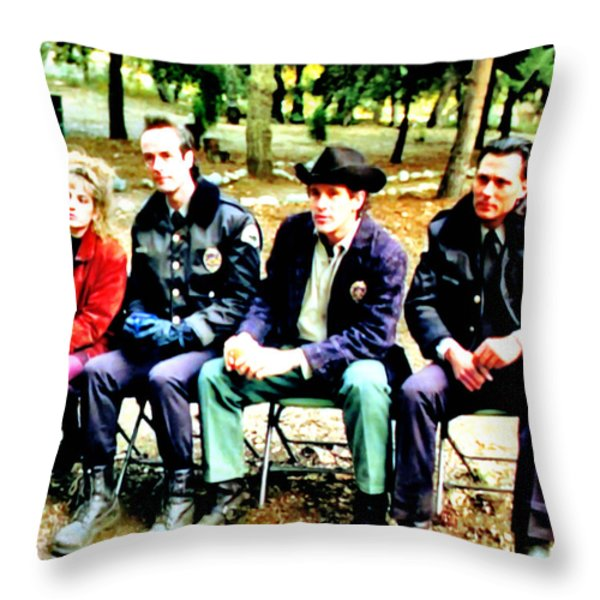 Tibet Throw Pillow by Luis Ludzska