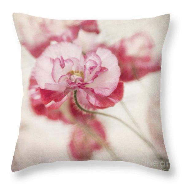 tickle me pink Throw Pillow by Priska Wettstein