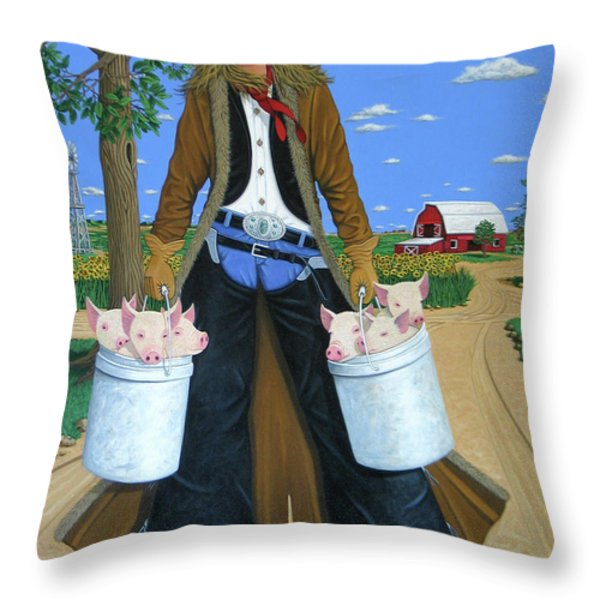 TICKLED PINK Throw Pillow by Lance Headlee