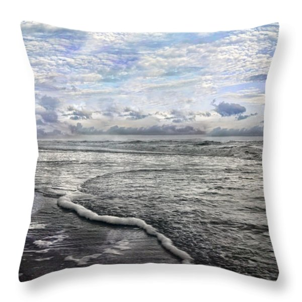 Tide Throw Pillow by Betsy A  Cutler