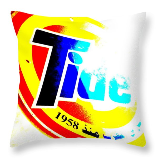 Tide In Marrakech Throw Pillow by Funkpix Photo Hunter