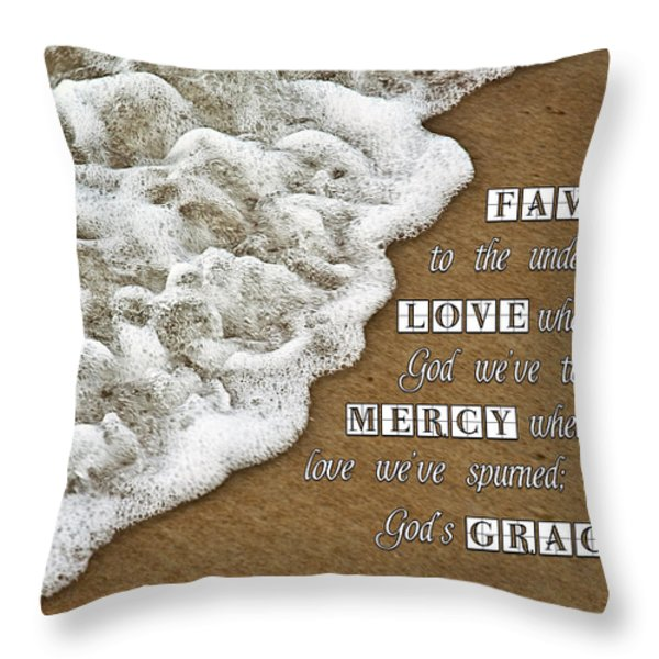 Tide Of Encouragement Throw Pillow by Carolyn Marshall