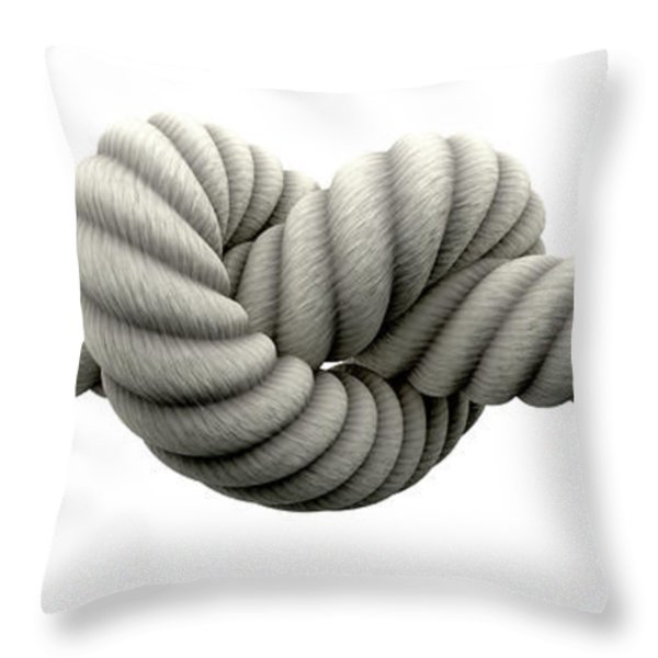 Tie The Knot Throw Pillow by Allan Swart