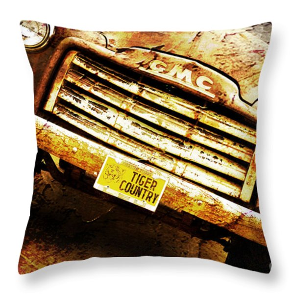 Tiger Country Old School Throw Pillow by Scott Pellegrin