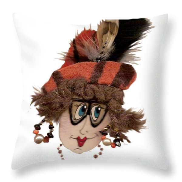 Tiger Gal Throw Pillow by Nan Wright