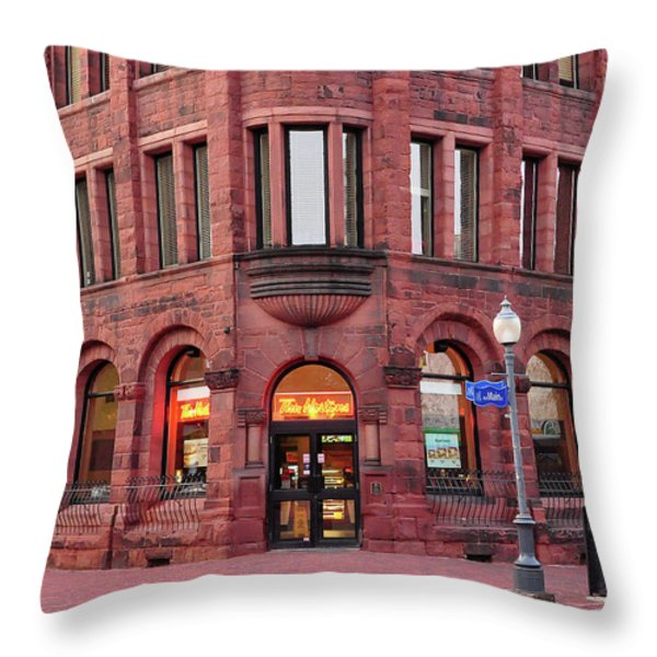 Tim Hortons Coffee Shop Throw Pillow by Glenn Gordon