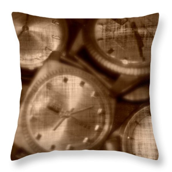 Time After Time Throw Pillow by Barbara S Nickerson