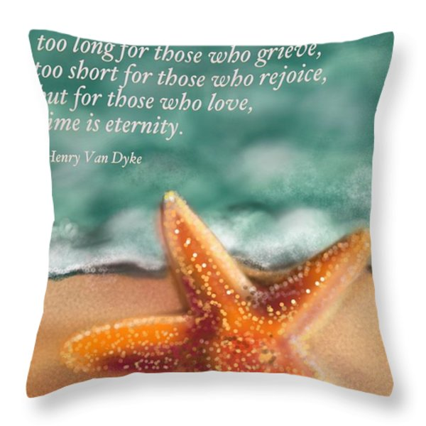 Time And Eternity Throw Pillow by Christine Fournier