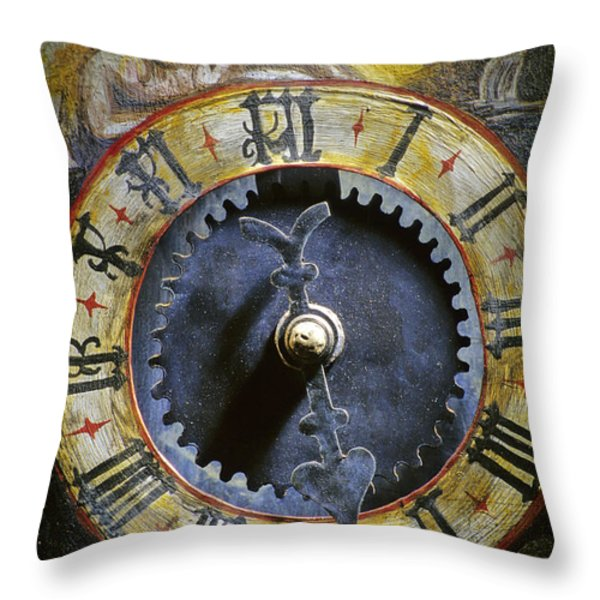 Time Throw Pillow by BERNARD JAUBERT