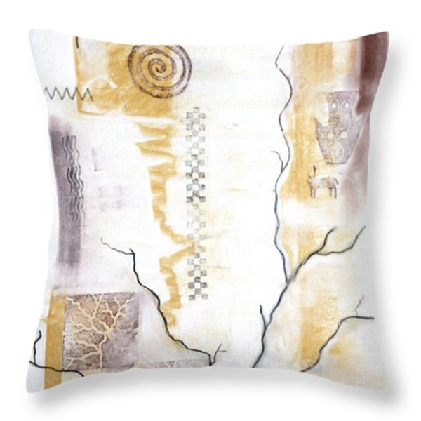 Time Branching Throw Pillow by Diana Perfect
