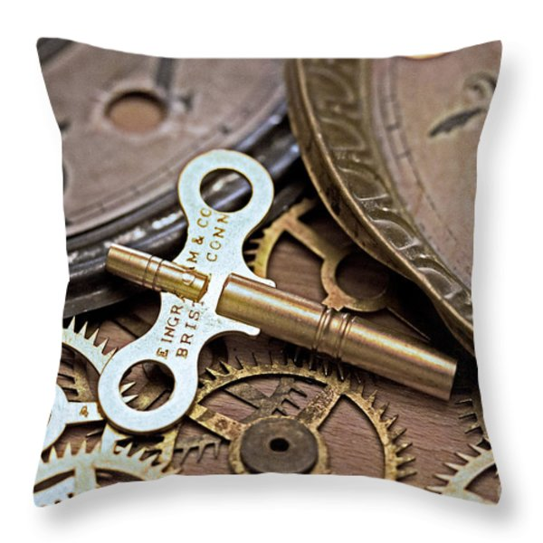 Time deconstructed Throw Pillow by Tom Gari Gallery-Three-Photography