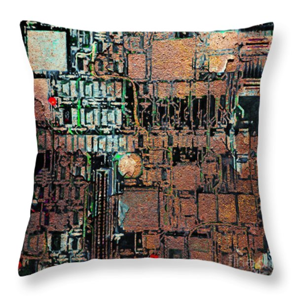 Time For A Motherboard Upgrade 20130716 square Throw Pillow by Wingsdomain Art and Photography