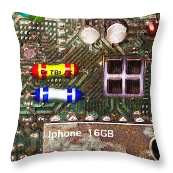 Time For An Iphone Upgrade 20130716 Throw Pillow by Wingsdomain Art and Photography