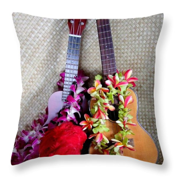Time For Hula Throw Pillow by Mary Deal