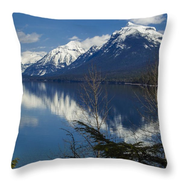 Time for Reflection Throw Pillow by Fran Riley
