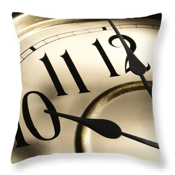 Time Goes By Throw Pillow by Olivier Le Queinec