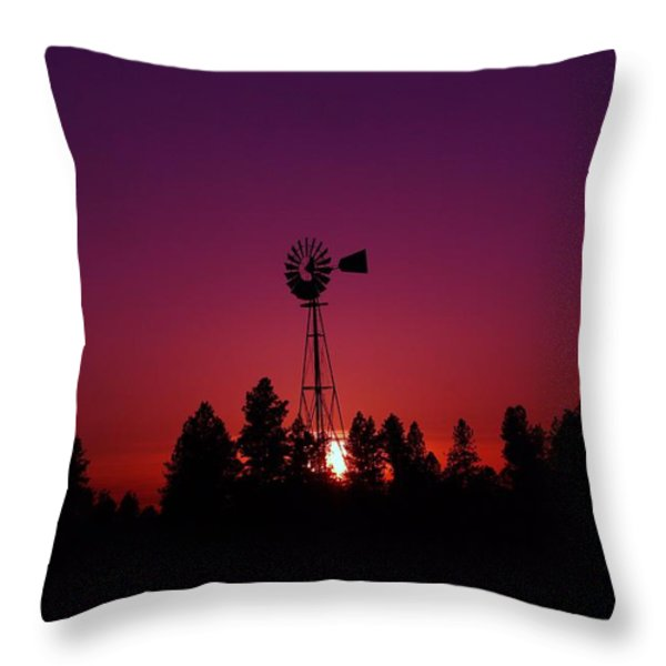 TIME GONE BY  Throw Pillow by Jeff  Swan