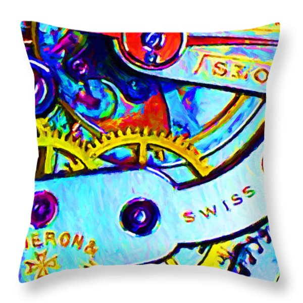 Time In Abstract 20130605 Throw Pillow by Wingsdomain Art and Photography