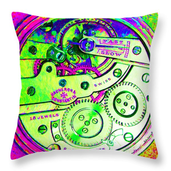 Time In Abstract 20130605m108 Square Throw Pillow by Wingsdomain Art and Photography