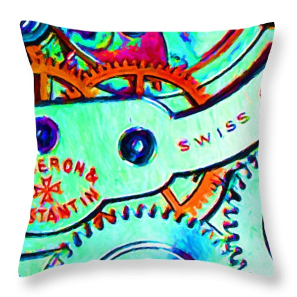 Time In Abstract 20130605m36 Long Throw Pillow by Wingsdomain Art and Photography