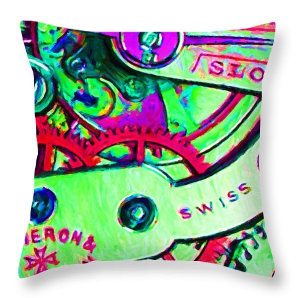 Time In Abstract 20130605m72 Throw Pillow by Wingsdomain Art and Photography