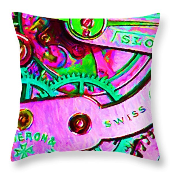 Time In Abstract 20130605p108 Throw Pillow by Wingsdomain Art and Photography