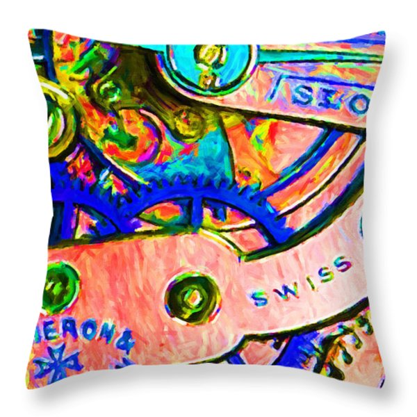 Time In Abstract 20130605p180 Throw Pillow by Wingsdomain Art and Photography