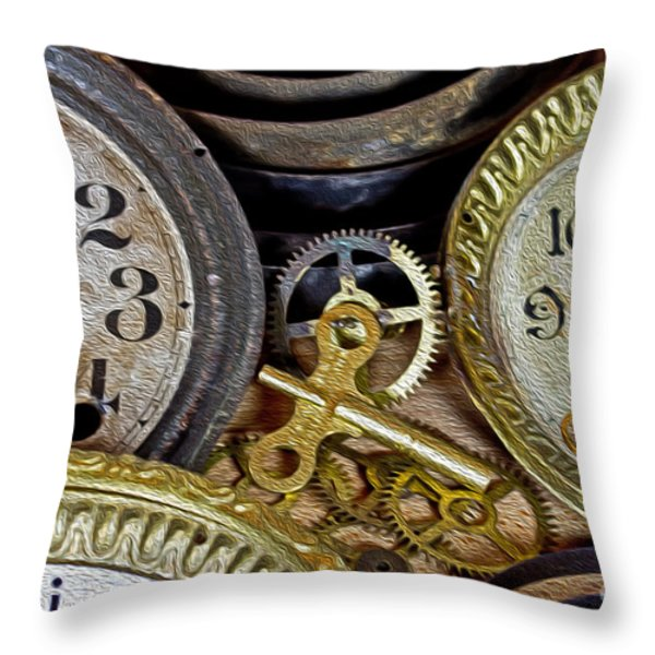 Time Long Gone Throw Pillow by Tom Gari Gallery-Three-Photography