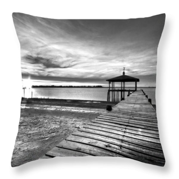 Time To Fish Throw Pillow by Debra and Dave Vanderlaan