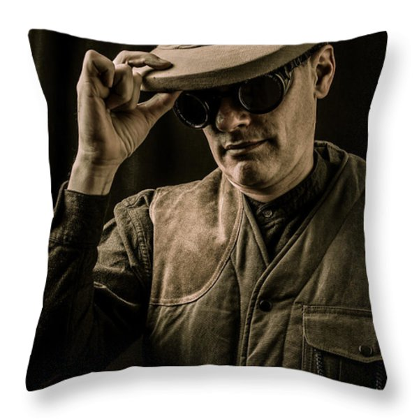 Time Traveler Throw Pillow by Edward Fielding