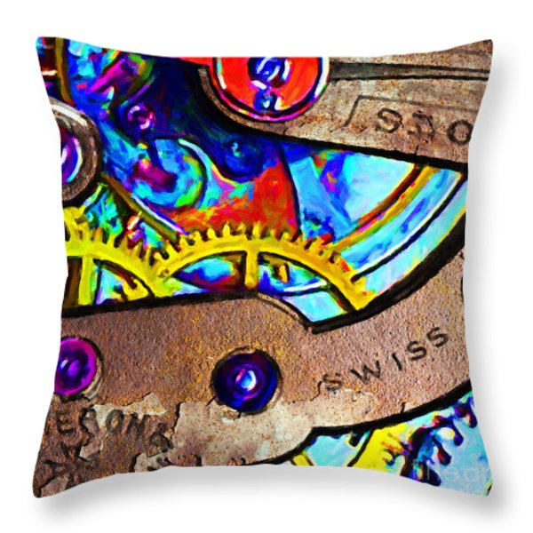 Time Waits For Nobody 20130605 Square Throw Pillow by Wingsdomain Art and Photography