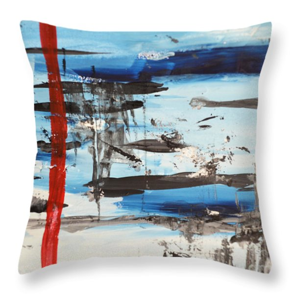 Timeline Throw Pillow by Andrea Anderegg