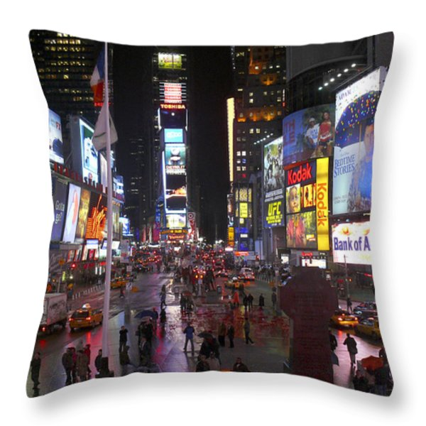 Times Square Throw Pillow by Mike McGlothlen