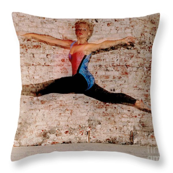 Tina Ballet Jump Throw Pillow by Gary Gingrich Galleries